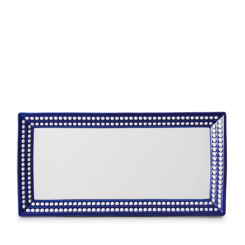 Perlée Blue Rectangular Platter