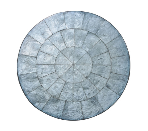 Round Capiz Placemat in Periwinkle, Set of 4