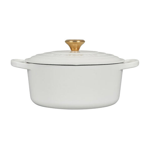 Round Dutch Oven with Gold Knob
