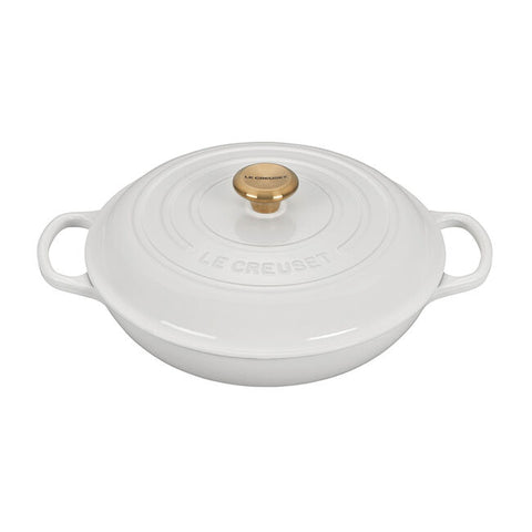 Braiser with Gold Knob