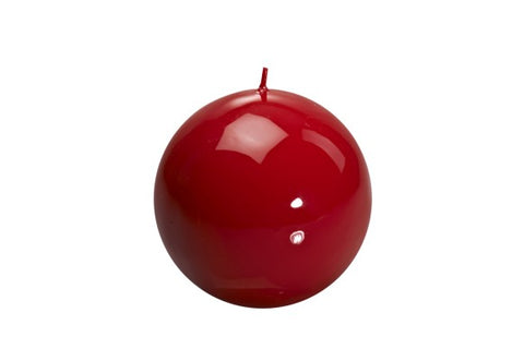 Red Ball Candle Large
