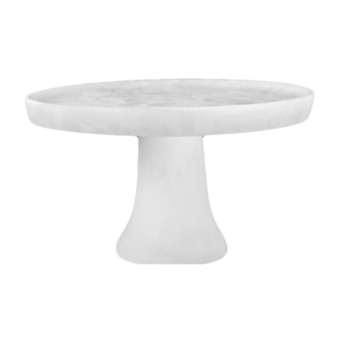 Medium White Resin Cake Stand