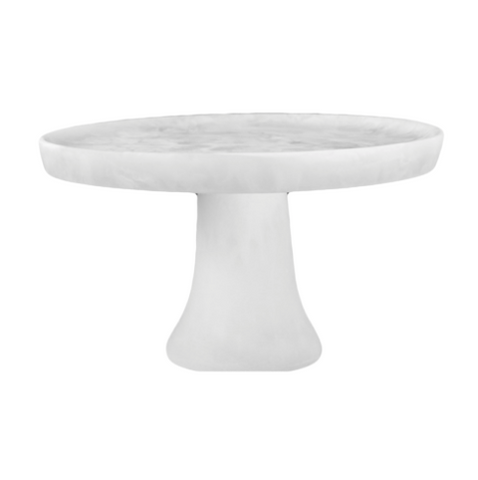 Large White Resin Cake Stand