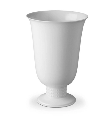 Perlée White Footed Vase