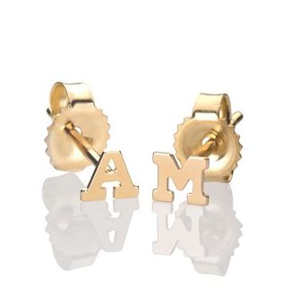 Mini Initial Stud Earrings