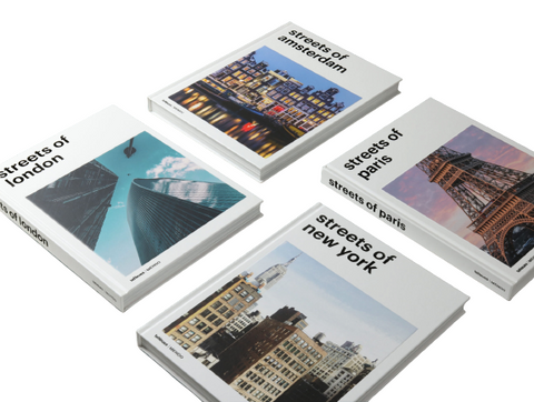Streets of New York, London, Paris & Amsterdam (Set of 4)