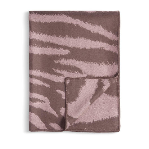 Tiger Jacquard Throw Mauve