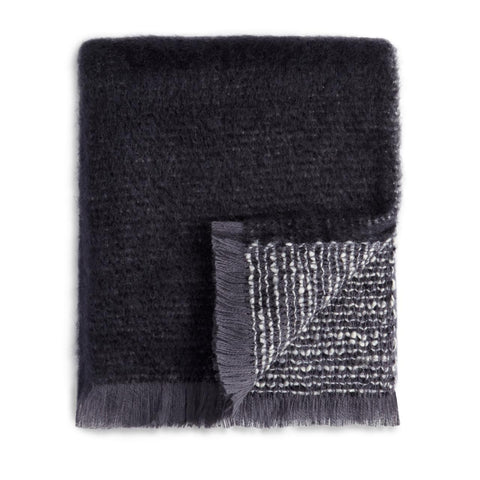 Seville Bouclé Throw Black