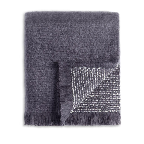 Seville Bouclé Throw Grey