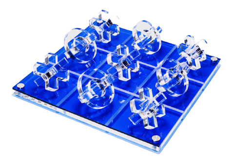 Luxe 3D Tic Tac Toe Blue