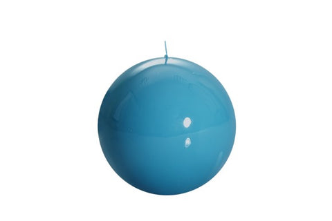 Turquoise Ball Candle Medium