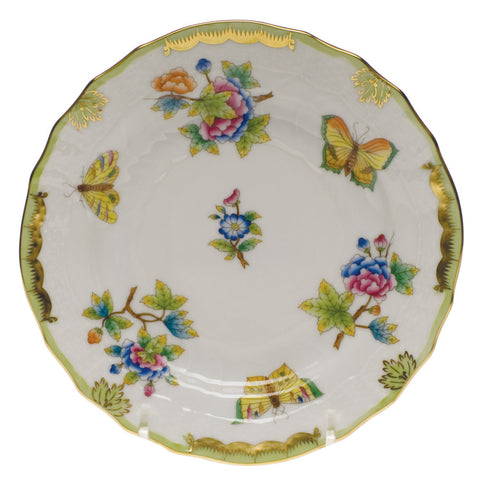 Queen Victoria Green Bread & Butter Plate