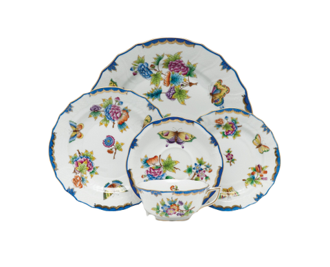 Queen Victoria Blue Dinnerware
