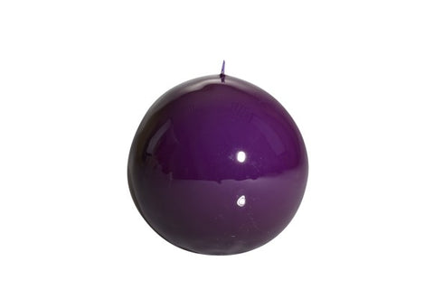 Violet Ball Candle Medium