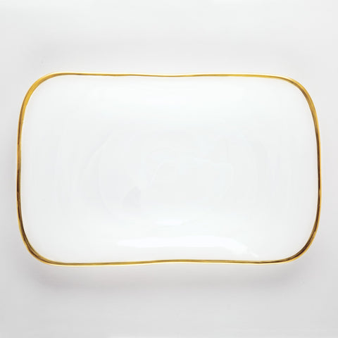 Alabaster White Rectangular Platter