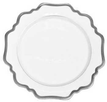 Antique White w/ Brushed Platinum Bread & Butter Plate
