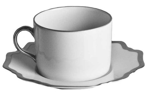Antique White w/ Brushed Platinum Tea Saucer