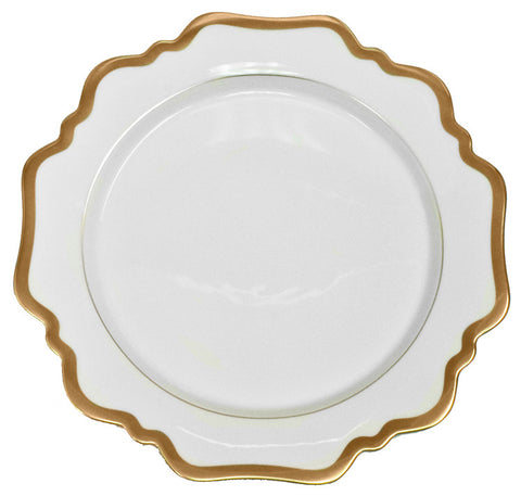 Antique White w/ Gold Dinner Plate