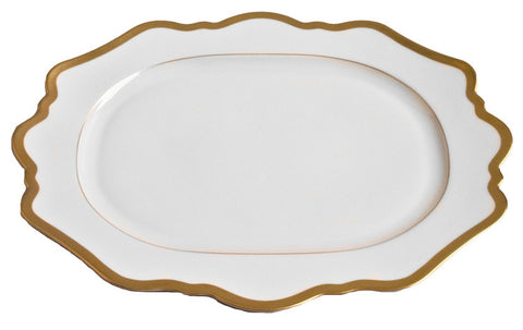 Antique White w/ Gold Oval Platter