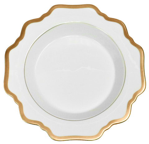 Antique White w/ Gold Rim Soup Bowl