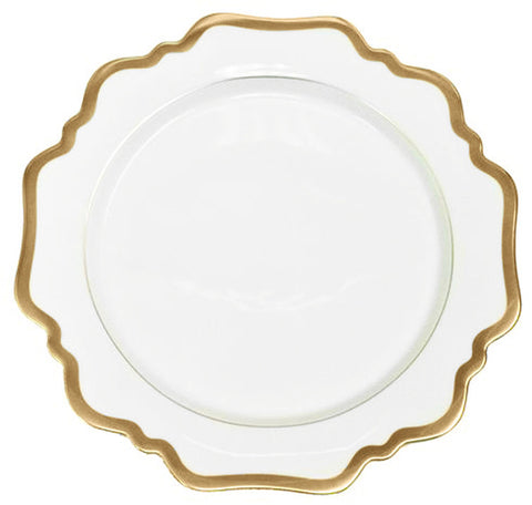Antique White w/ Gold Salad/ Dessert Plate