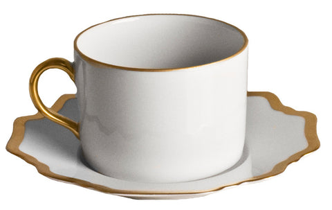 Antique White w/ Gold Tea Cup