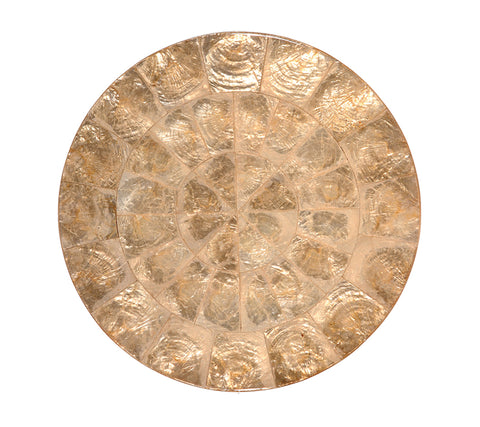 Round Capiz Placemat in Champagne, Set of 4