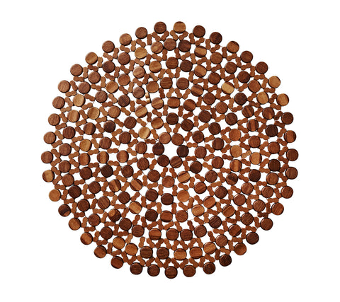Round Bamboo Placemat Brown, Set of 4
