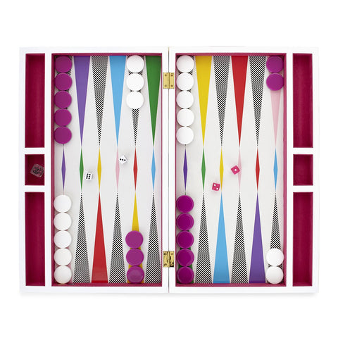 Checkerboard Backgammon Set