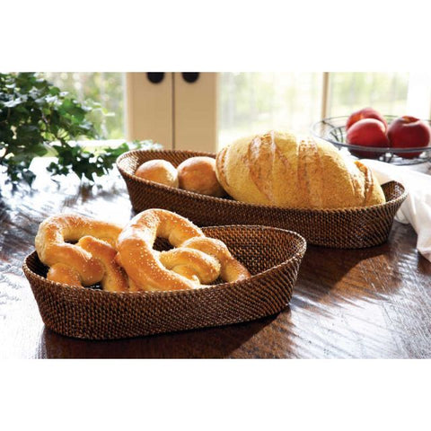Oval Bread Basket w/ Edging
