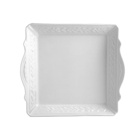 Louvre Square Handled Tray 9.5