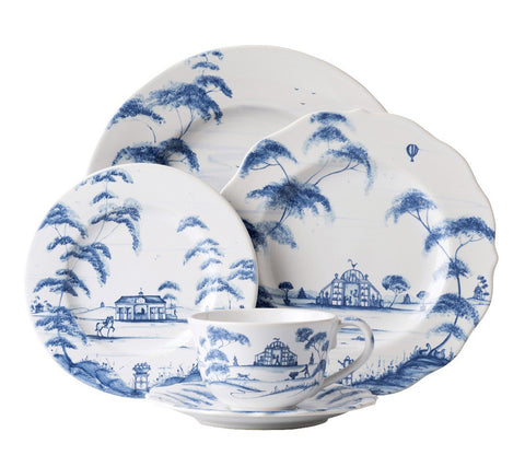 Country Estate Delft Blue Five Piece Place Setting
