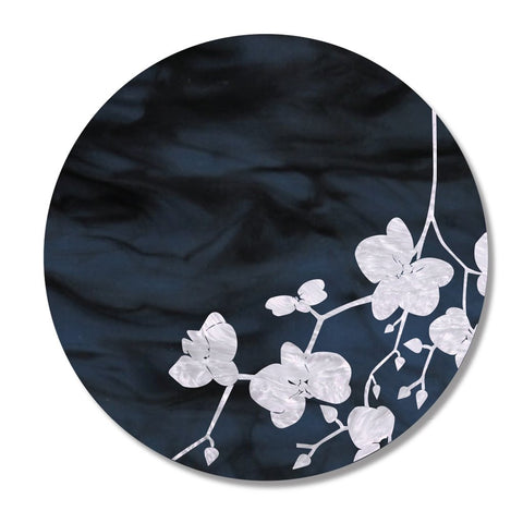 Navy & White Cherry Blossom Leaf Placemat, Set of 4