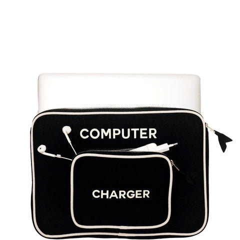 Computer Case w/ Charger Pocket Black