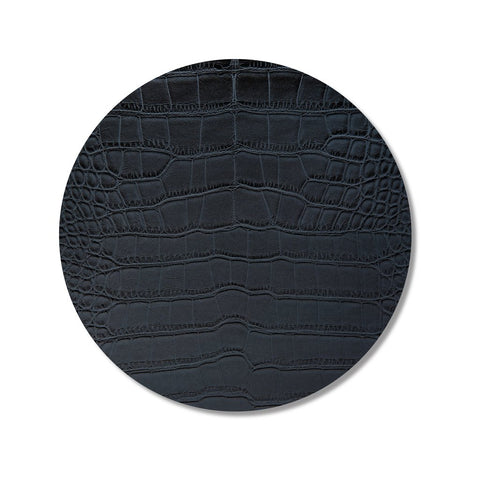 Black Croc Print Placemat, Set of 4