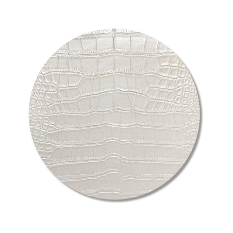 Ivory Croc Print Placemat, Set of 4