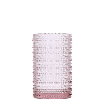 Jupiter Iced Beverage Glass Pink, Set of 12
