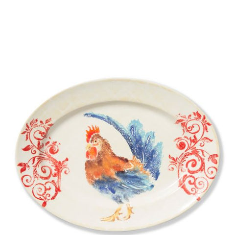 Gather Rooster Medium Oval Platter