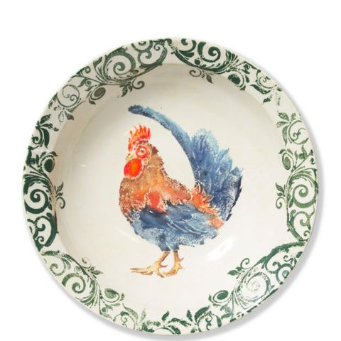Gather Rooster Large Bowl