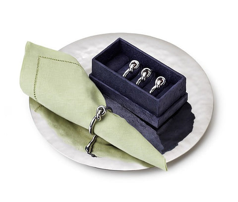 Helyx Napkin Ring w/ Knot, Set of 4