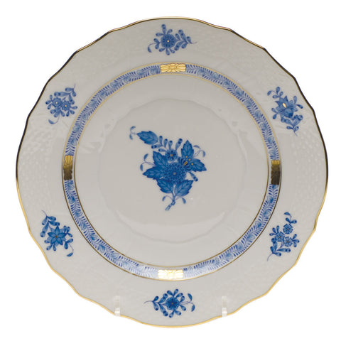 Chinese Bouquet Blue Salad Plate
