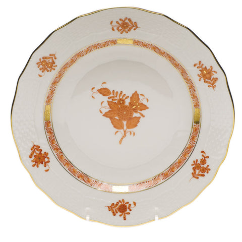 Chinese Bouquet Rust Dessert Plate