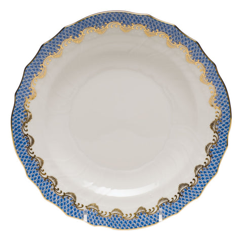 Fish Scale Salad Plate Blue