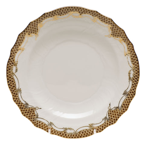 Fish Scale Salad Plate Brown