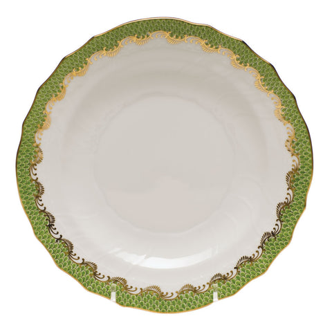 Fish Scale Salad Plate Evergreen