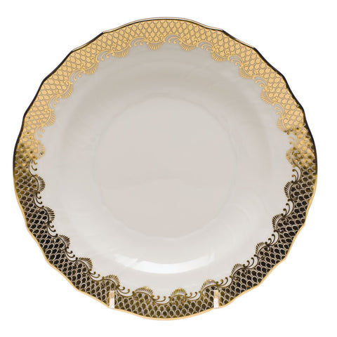 Fish Scale Salad Plate Gold