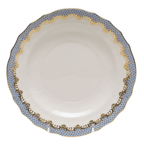 Fish Scale Salad Plate Light Blue