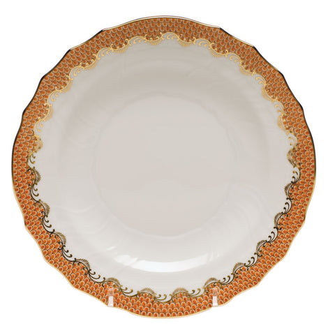 Fish Scale Salad Plate Rust