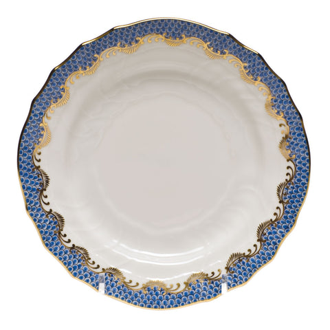 Fish Scale Bread & Butter Plate Blue