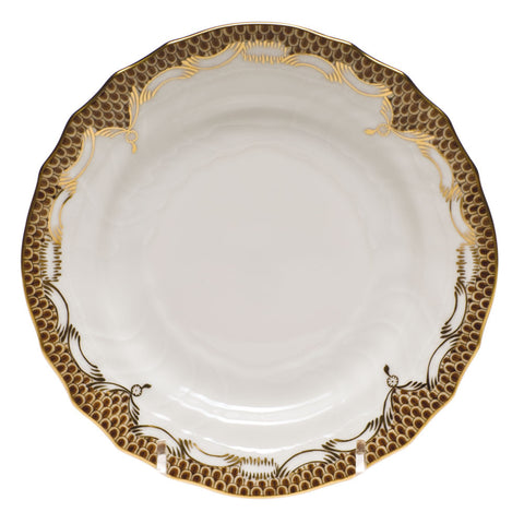 Fish Scale Bread & Butter Plate Brown